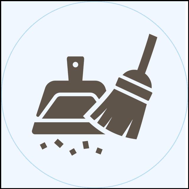 玄関掃き掃除